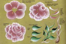 peinture sur bois fleurs