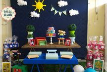 Kit Mini Mesas, decor Show da Luna - Festa Jupiter