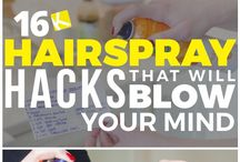 hair spray hacks