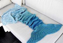 Meerjungfrauendecke stricken