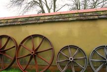 Shepherd's Hut Wheels / Without its cast iron wheels, the traditional shepherds hut would just be... a hut! Originally the wheels were integral to the function of the hut. They allowed the hut to be towed along rough tracks to reach the flock. The function of the wheels today, however, is to transform the shepherds hut from the mundane to the amazing!