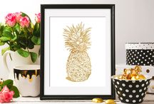 Gold Foil Art Prints