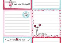 Lunch Box Notes / Printables and ideas for the notes in the packed lunches.