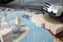Напольные наклейки в автосалонах / Напольные 3d наклейки в автосалонах - дизайн, изготовление, монтаж.