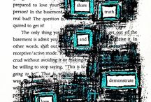 "Found Poetry / Found poetry is sometimes called blackout poetry, redacted poetry or book page poems. According to Wikipedia, it's any poem ""created by taking words, phrases, and sometimes whole passages from other sources and reframing them as poetry by making changes in spacing and lines, or by adding or deleting text, thus imparting new meaning"". And that's what you'll find here!"