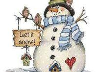 Snowmen and Christmas Art
