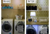 Ideas for A Small Laundry Room / Our laundry room is small. Here are some ideas to help spruce it up.