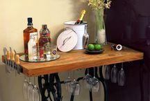 porta taças e bebidas