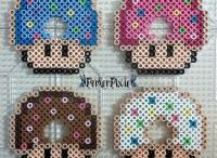 Pixel art/ perler svamp