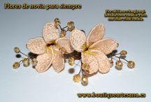 Ramos de Novia originales para siempre. / Ramos de novia originales, para siempre. Flores bordadas. Alta calidad. Totalmente artesanales y personalizables, color, flores, forma....