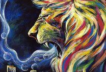 Lion paintings / Prophetic Art: Lion Series