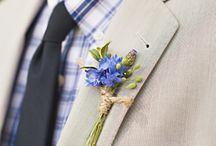 Inspiration: Bouquets & Boutonnieres / a look at the variety of options for grooms