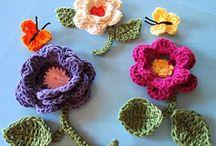 Crochet Flowers, Leaves & Motifs / 3 D & motif. Flowers & Leaves / by Colleen Desouza