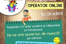 Angajam operator magazin online