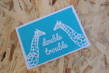 New baby and babies screen printed cards