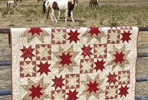 red ahd white quilts