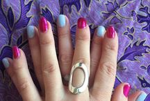 Fancy Fingers / Nail designs created in the salon using shellac.