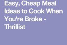 Cheap meals