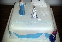 Frozen themed cakes / My latest creations all inspired by Frozen:)