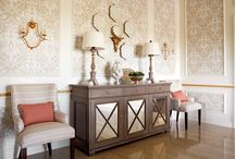 "Kelley Proxmire / Kelley Proxmire creates pretty yet practical spaces that reflect the way her clients live. She studied the work of Billy Baldwin, Mark Hampton, Frances Elkins and Michael Taylor. ""These influences laid the foundation for my style, which is beautiful yet enduring,"" she says. 