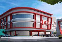 HONDA MSK showroom / Type : Commision, Programmatic : Commercial, Client : Honda MSK, Colaborators : –, Size : 4800 M2, Height : 11,8 M, Location : Serang, Indonesia, Years : 2012,   gubah ruang #gubahruang  www.gubahruang.com