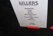 Hot Fuss Tour / Foto delle setlist cartacee dei concerti della band durante l'Hot Fuss Tour [2004-2006] N.B. Le setlist finali dei concerti potrebbero non essere queste