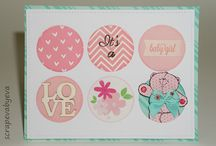 Baby cards / Handmade cards with a baby theme made by different scrappers...