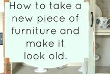 Furniture painting / Upcycling distressing  / by Kelli Yotter