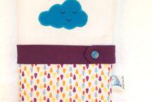 """Petit Merlin ; collection """"Gouttes et nuage"""". Https://www.petitmerlin.com / Accessoires bébés et enfants. Qualité et originalité au service des plus petits !  Https://www.petitmerlin.com La page Facebook : http://www.facebook.com/Boutique.petitmerlin"""