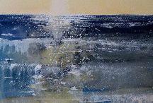 painting sjø