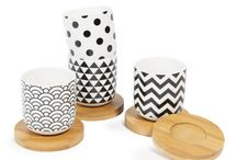 Relooking meubles vintage en noir et blanc / Intemporel le noir et blanc se marie avec bonheur aux meubles vintages. Idées de relooking en noir et blanc en jouant avec les papiers japonais et leurs motifs géométriques !