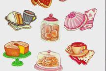 Ilustração comida
