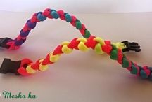 Pracord rainbow jewelry - színátmenetes paracord ékszerek