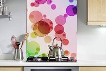 Abstract - Printed Glass Splashbacks / Our Printed and Coloured Glass Splashbacks are of the highest quality toughened safety glass that has a great resistance to heat so the glass will not crack, nor will the colour fade.   For our printed glass splashbacks hoose from our large range of Images or we accept any high resolution image (file size must be a minimum of 1MB for splashbacks under 800mm x 800mm - for larger splashbacks we require a 2MB image size minimum).