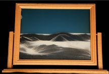 Sand Art / Tranquil Sands - created with three different sands and water, when adjusted and turn over, sand will make a beautiful landscape scene.