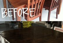 Refinish kitchen table