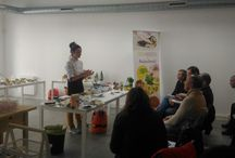 Taller de Algas / Fotos descriptivas de los talleres demostrativos y showcookings sobre algas que organizamos en bluscus.es