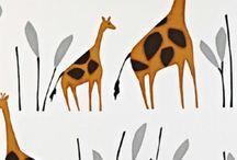 Giraffe | Kindergordijnen | Prestigious Textiles PT | Kunst van Wonen