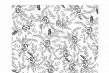 Folk Art Florals Cling Background Stamp