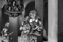 Genios de la Noche / Ilustraciones por encargo para el libro de biografiás de astronomía moderna del periodista Sebastian Musso.