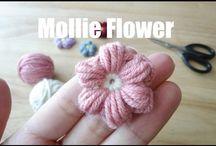 カギ針編み.たま編みの花ーその他