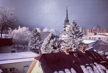 From window / #Orava #Dolny #KUBIN #church #winter #snow #snowing #cold