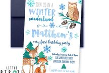 Winter Onederland Winter Birthday Ideas for boys Winter Woodland
