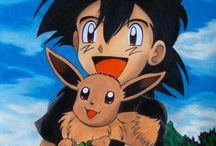 Ash hold Eevee in his