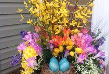 Tavaszi ajtó dísz