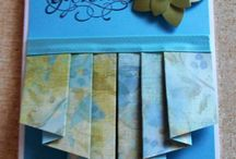 Accordion fold cards/ drapery folded cards