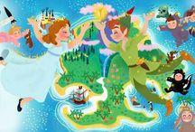 Peter pan, campanilla y wendy
