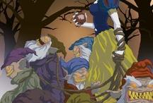 """Twisted Princess / El artista Jeffrey Thomas ha creado una serie de ilustraciones denominada """"Twisted Princess"""", un término que en español puede traducirse como """"Princesas Retorcidas"""". La idea fue tomar algunas de las princesas más conocidas de películas de Disney y darles un toque macabro."""