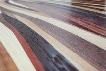 """Tavolino in legno massello """"MULTIESSENZA"""" design moderno"""