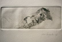 Dry point / Dry points from the Belgian etcher Andreas Vanpoucke